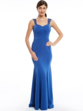 Trumpet Lace Straps Sleeveless Floor-Length Evening Dress
