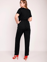 Solid Color Pleated Strap Slim Women's Jumpsuit