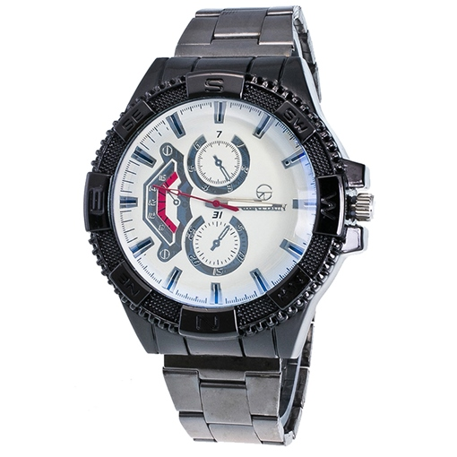 Gear Dial Design Steel Strip Men's Watch