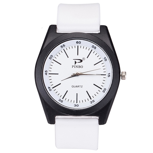Leisure Silicone Band Analog Display Men's Watch