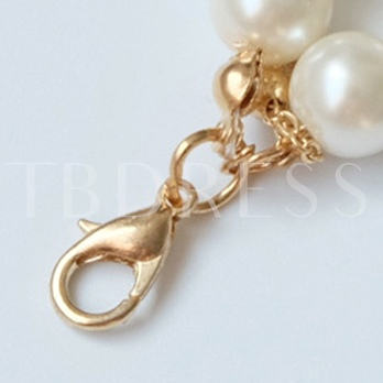 Three Layers Artificial Pearls Long Necklace