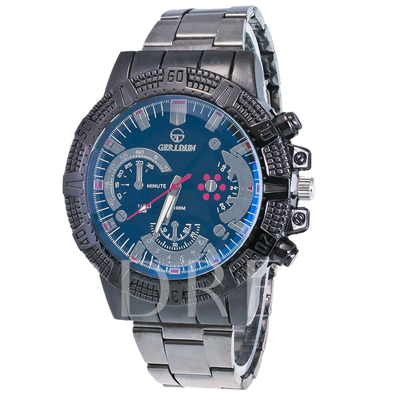 Blue Surface Design Steel Strip Men's Watch