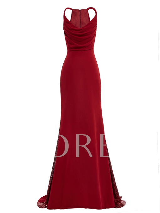Straps A-Line Zipper-Up Floor-Length Long Evening Dress