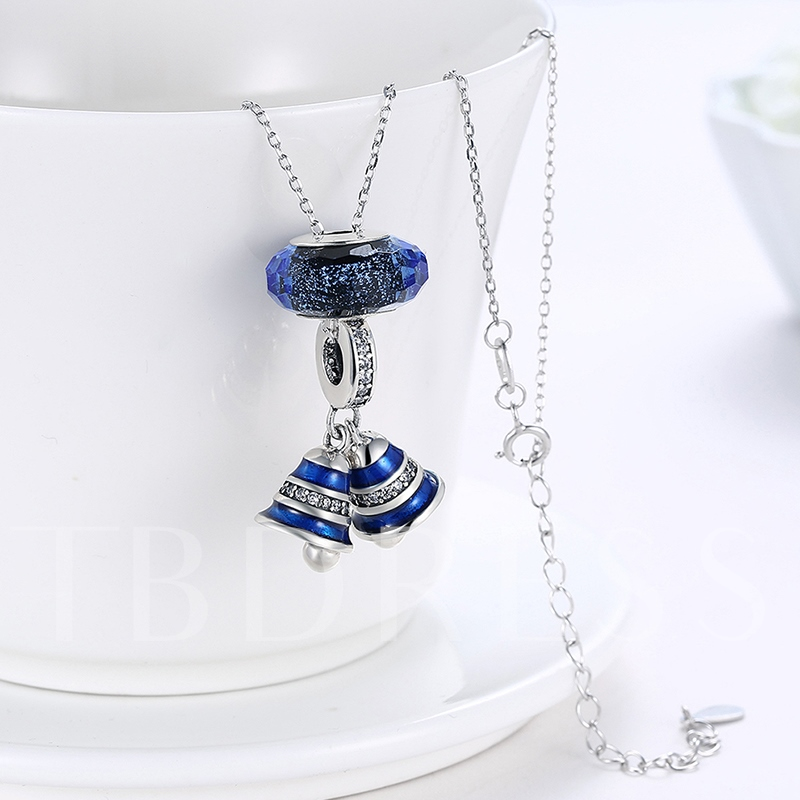 Blue Bell Diamante 925 Sterling Silver Necklace