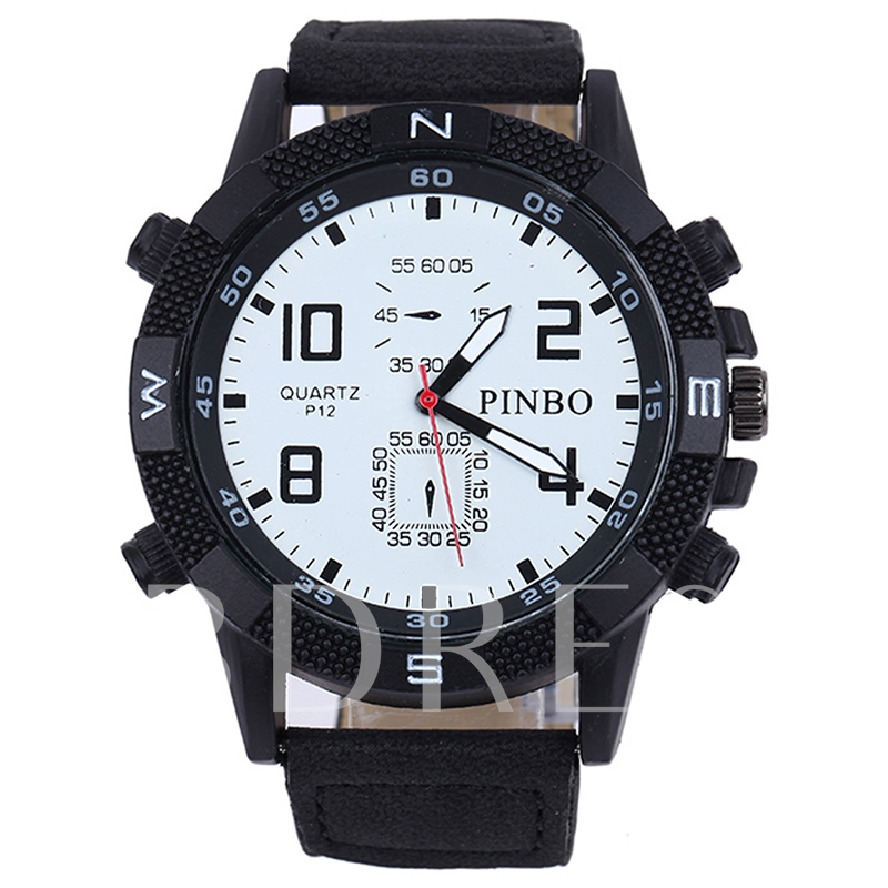 Casual Silicone Band Analog Display Men's Sports Watch