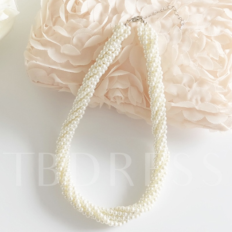 Imitation Pearl Beaded All-Matched Necklace