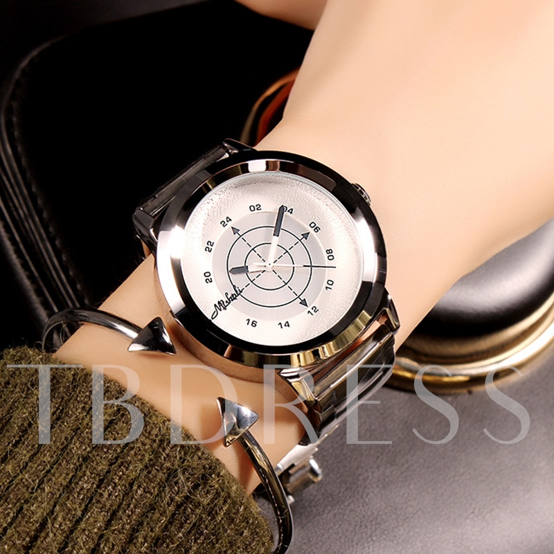 Simple Dial Creative Pointer Design Women's Quartz Watch