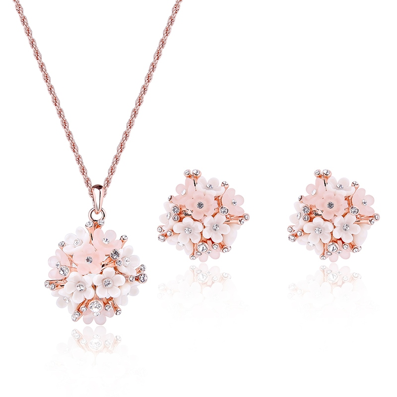 Flowers Design All-Matched Two Pieces Jewelry Set