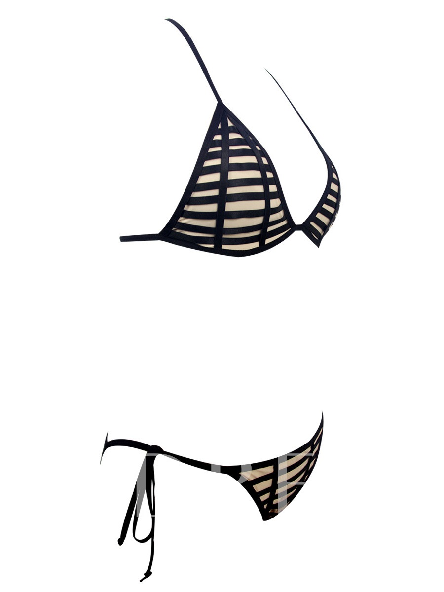 Cross Lace-Up Hollow 2-Pcs Bikini Set