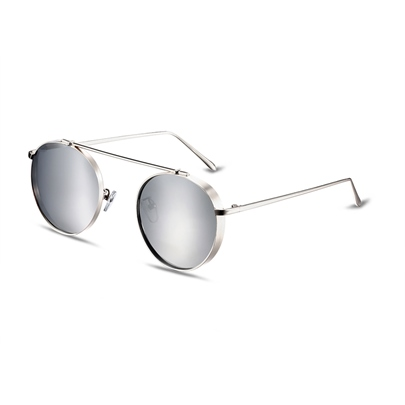 HD Silver Lenses Retro Polarized Sunglasses