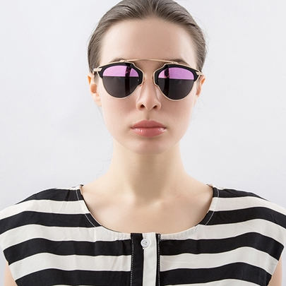 Vogue Half Pink Lens Design Polarized Sunglasses
