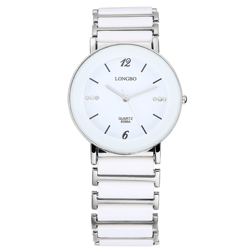 Men's White Ceramics Leisure Watch