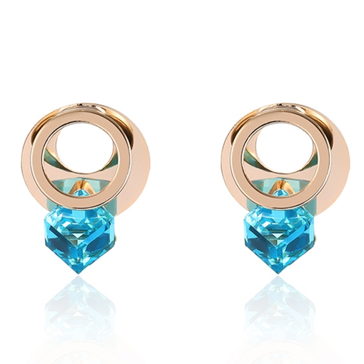 Splendid Blue Rhinestone Alloy Stud Earrings