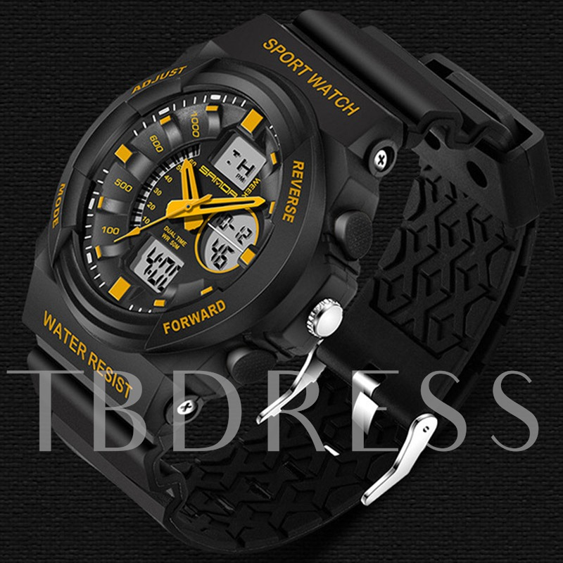Quartz & Electronic Movement Luminous Design Men's Sports Watch