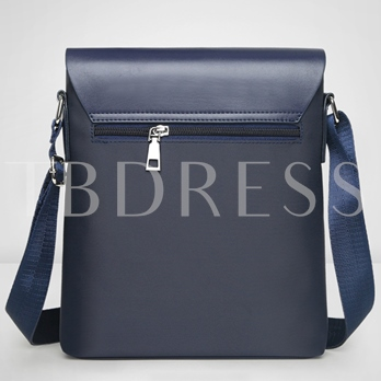 Leisure Solid Color Artifical Leather Men's Cross Body