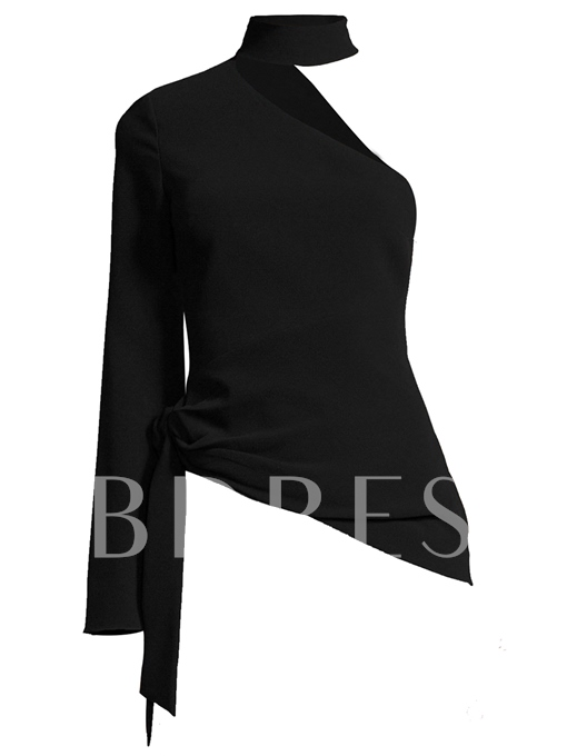 Asymmetric One Shoulder Women's Blouse