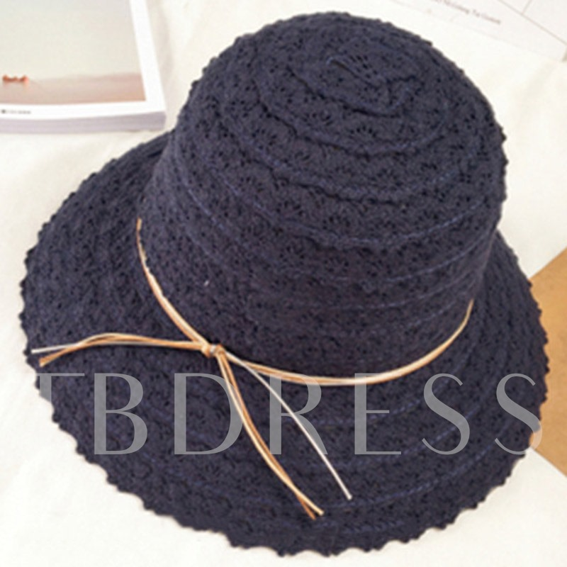 Wide Brim Foldable Beach Summer Straw Hat