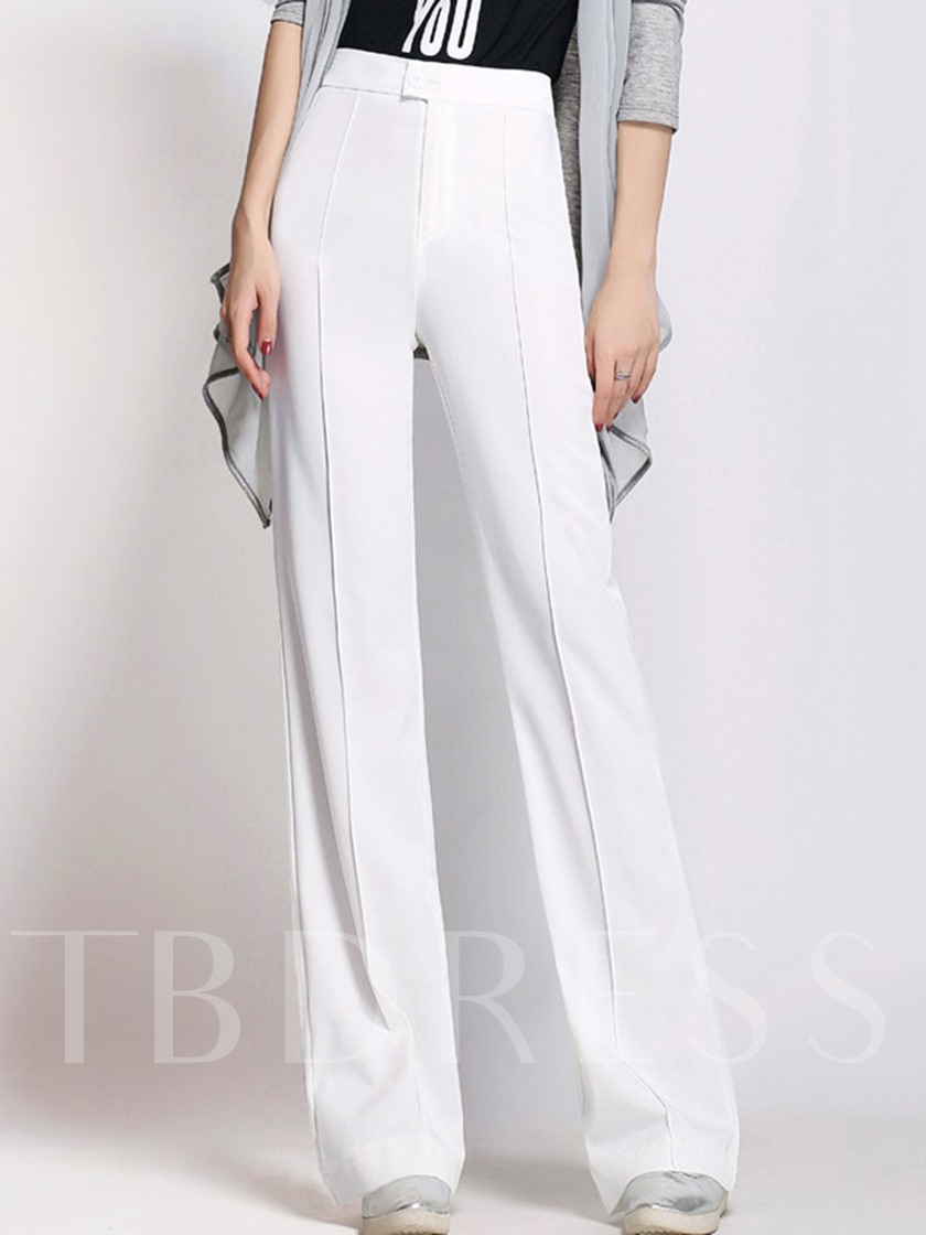 Pure Color Palazzo High Waisted Women's Pants