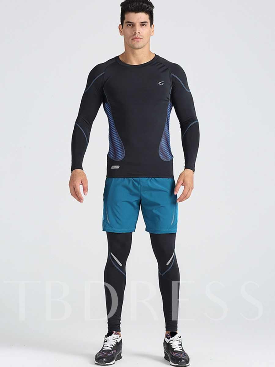 Breathable Three-Piece Men's Running Clothing