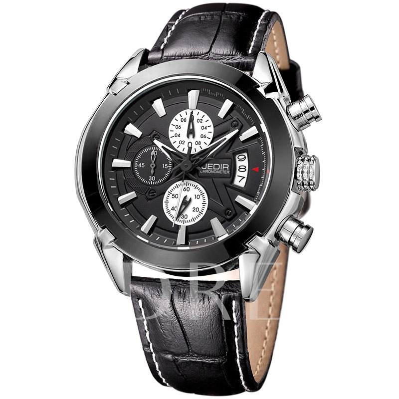 Multifunctional Dial Pin Buckle Men's Quartz Watch