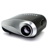 Portable LED Home Projector with VGA/HDMI Ports for iPhone/iPad/DVD/PC