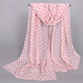 Little Dots Decorated Thin Chiffon Scarf