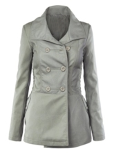 Double-Breasted Pocket Women's Trench Coat