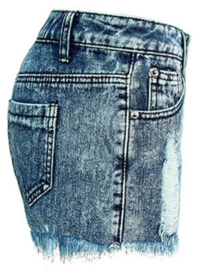 Tassels Washable Worn-Out Women's Shorts