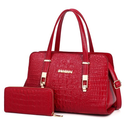 Elegant Crocodile Grain Women's Bag Sets
