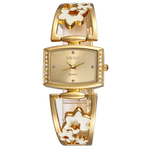 Flowers Band Design Diamante Dial Women's Watch