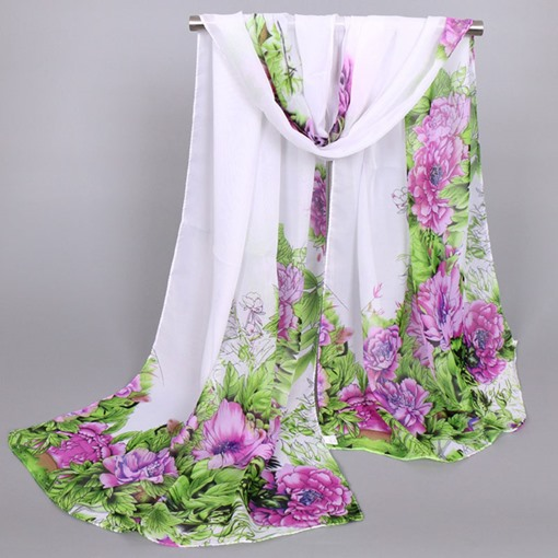 New Style Beautiful Peony Printed Women's Scarf