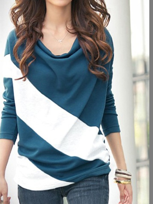 Korean Style Split Joint Bat Sleeve T-Shirt