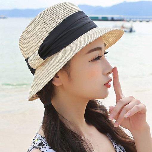 Summer Beach Foldable Fine Straw Hat