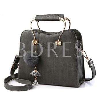 Metal Handgrip Plush Ball Women's Tote Bag