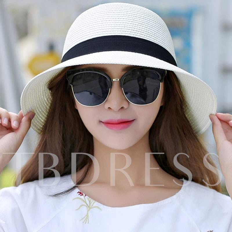 Beach All-Matched Dome Crown Summer Straw Hat