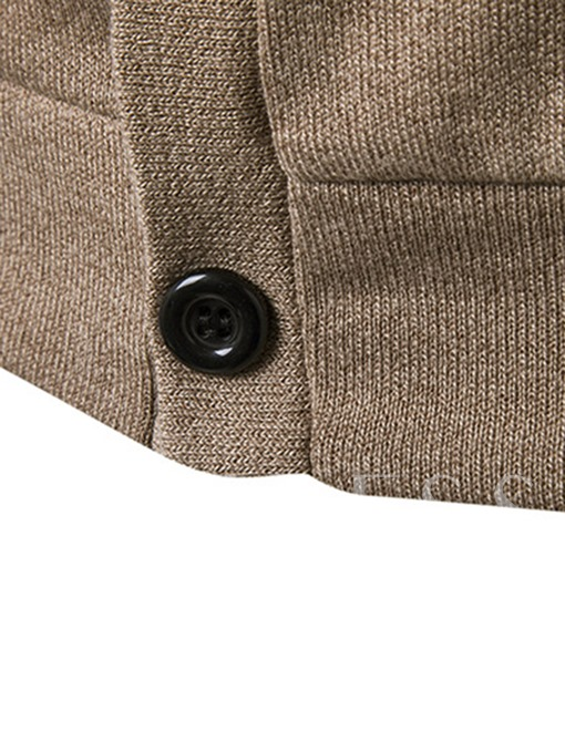 Single-Breasted V-Neck Men's Casual Plain Cardigan Sweater