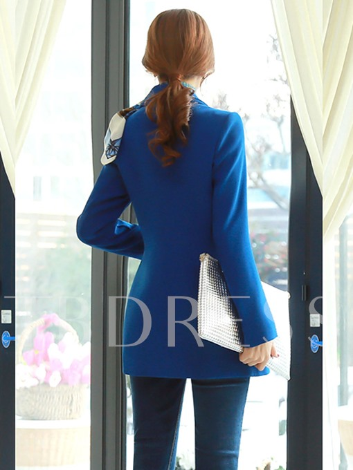 All-Matched Slim Fit Belted Lapel Women's Blazer