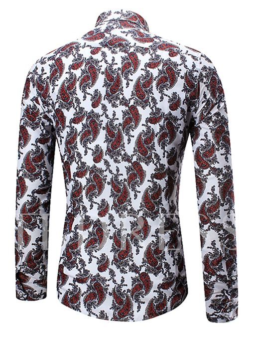 Vogue Printed Casual Men's Long Sleeve Shirt