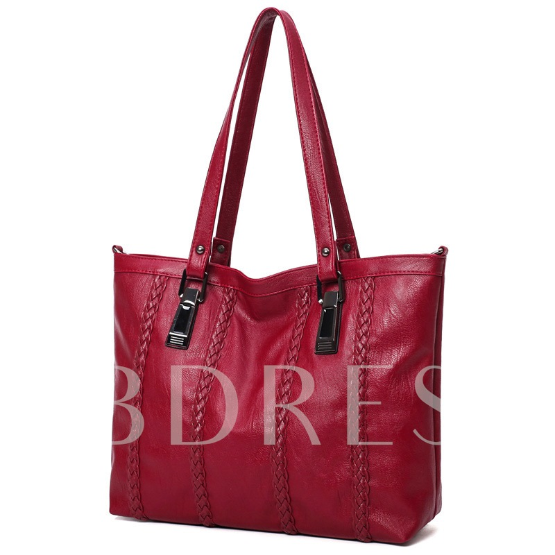 British Style Braids Decoration Women's Tote Bag