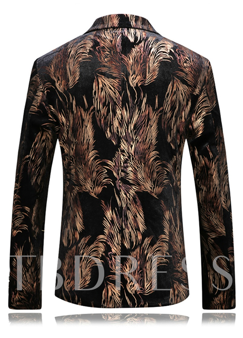 Vogue Printed Double-Button Men's Elegant Blazer