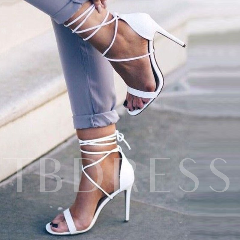 Heel Covering Open Toe Plain Stiletto Heel Women's Sandals