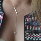 Geometric Women's Long Pendant Necklace