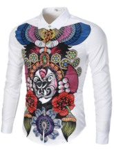Vogue Floral Printed Long Sleeve Men's Elegant Shirt
