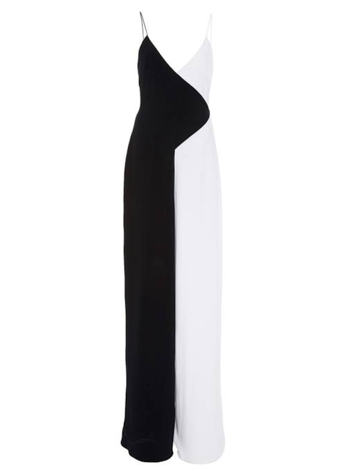 White And Black High-Waist Backless Women's Jumpsuit