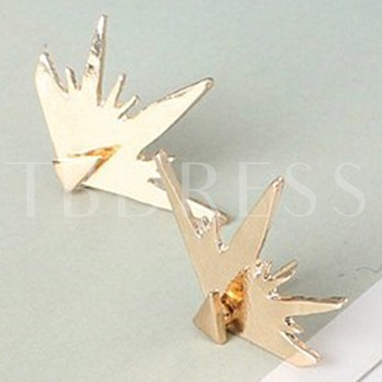 Personality E-Plating Triangle Stud Earrings