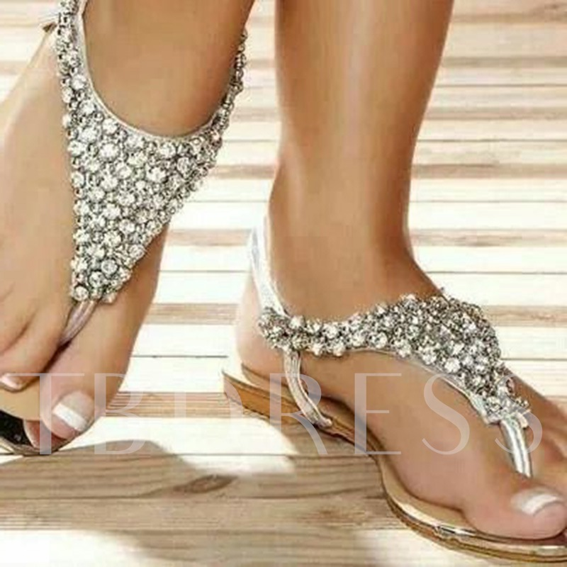 Comfortable beach jeweled Flat Sandals