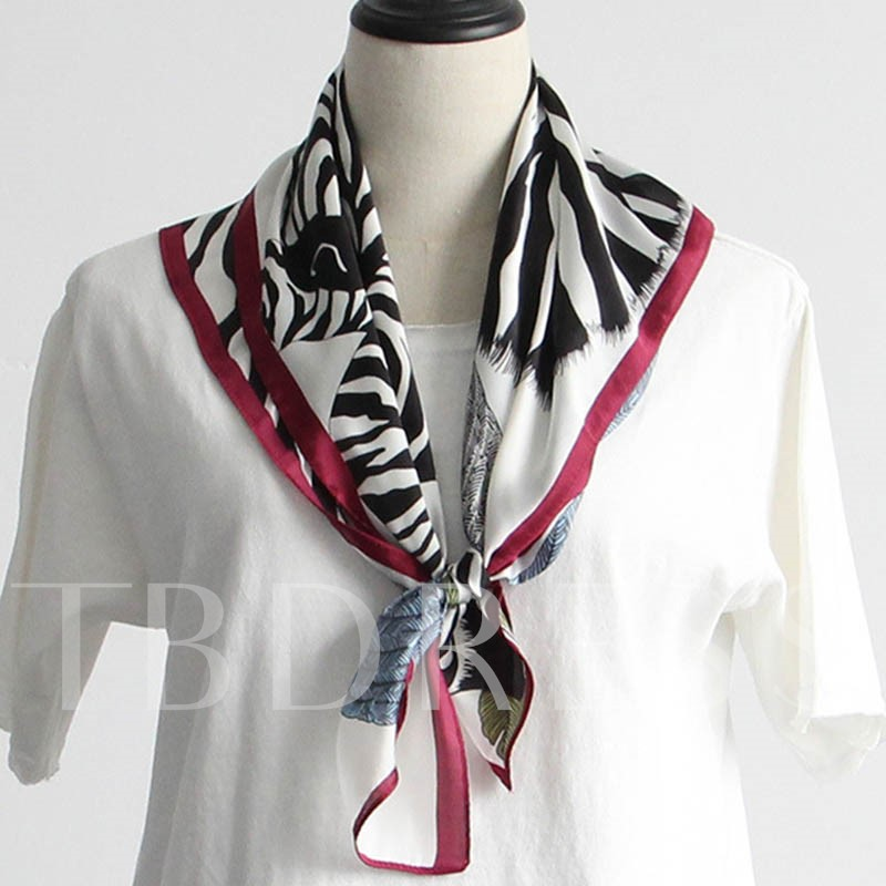 Buy Spring Thin Zebra Stripes Printed Square Scarf, Spring,Summer,Fall, 12772796 for $10.99 in TBDress store