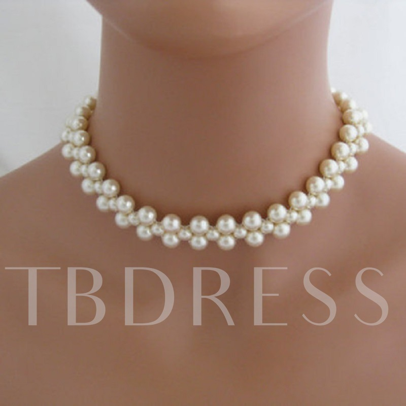 Graceful Handmade Beaded Pearl Necklace