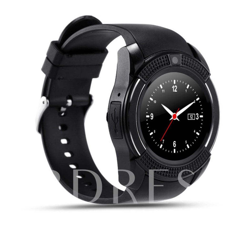 V8 Android Smart Watch Phone with Camera Support SIM/TF Card