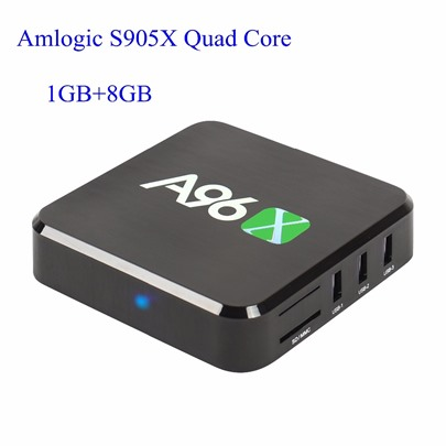 A96X Android TV Box Amlogic S905X Quad Core 1G+8G 4K TV Box with Remote Control